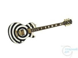 WOODSTOCK LES PAUL ZAKK WYLDE BLACK/WHITE