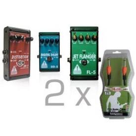 Комплект гитарных педалей DISTORTION + FLANGER + DIGITAL DELAY