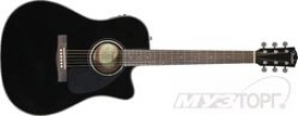 FENDER CD-140SCE, Black, Cutaway, Solid Spruce Top, Mahog' Back/
