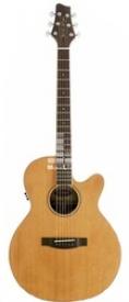 Электроакустическая гитара Stagg NA60MJCBB LH