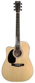 Электроакустическая гитара Stagg SW203CE LH