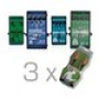 Комплект гитарных педалей TRIO + CHORUS + NOISE GATE + DIGITAL D